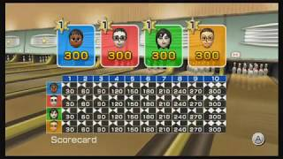 Wii Sports - Bowling  (4 Players: All Perfect Games!)