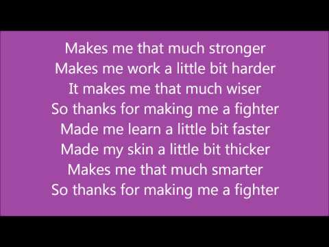 Fighter by Christina Agulara - Lyrics on screen - Full song