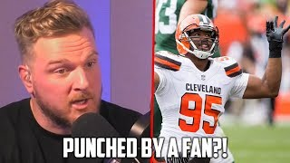 Myles Garrett Punched In Face By Fan?