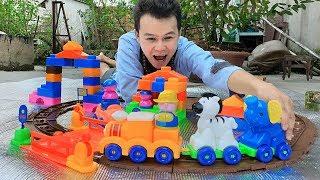 Trò Chơi Car Railroad Farm ❤ ChiChi TV ❤ Đồ Chơi Trẻ Kids Toys