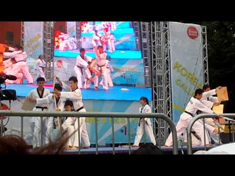 Taekwondo Kukkiwon (Evening, Part 2) Demonstration Team - Korea Calling, London Thames Festival 2011 Image 1