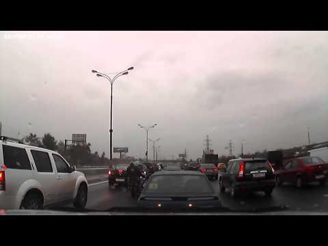 Барсеточники — кража из автомобиля на МКАД (внешка перед Гольяново)