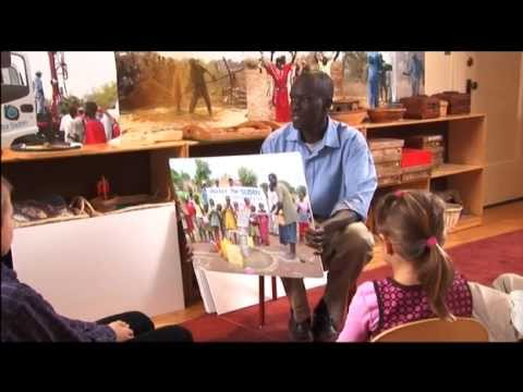 Salva Talks with Children about Water for South Sudan