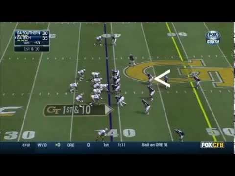 Edwin Jackson - Georgia Southern Football - ILB - 2014 Georgia Tech Game