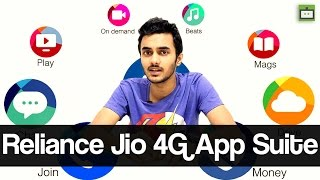 Reliance Jio 4G: Complete Overview of Reliance Jio 4G App Suite #GIZBOT