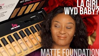 LA GIRL WAKANDA SHADE RANGE IS THIS? Pro matte foundation could have been a huge hit except…