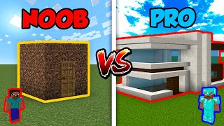 Minecraft NOOB vs. PRO: MODERN HOUSE in Minecraft!