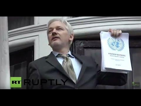 LIVE outside Ecuadorian embassy as Assange prepares for UN verdict