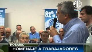 HOMENAJE A TRABAJADORES DE ATE CON 50 AÑOS DE AFILIACION