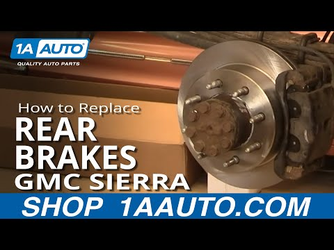 How To Do a Rear Brake Job Chevy Silverado GMC Sierra 2500HD 00-07 1AAuto.com