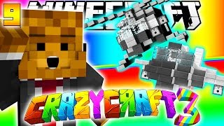 Minecraft CRAZY CRAFT 3.0 - PLANES AND HELICOPTERS MOD #9
