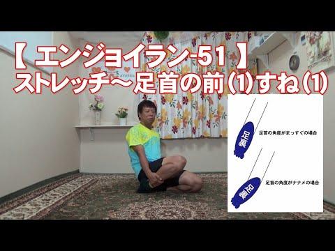 #51 足首の前(1)すね(1)/筋肉痛改善ストレッチ・身体ケア【エンジョイラン】