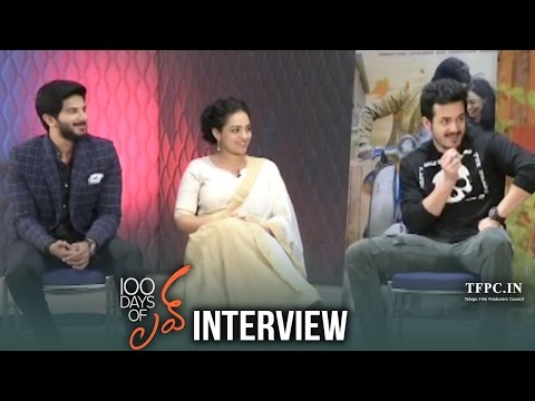 Akhil Chitchat with Dulquer Salmaan & Nithya Menen | 100 Days Of Love Funny Interview | TFPC
