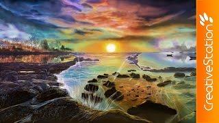 Peaceful Day - Speed Painting (#Photoshop)   CreativeStation