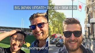 SKIING in JAPAN (HOLIDAY VISA update) + RUGBY + Running | Bramskivlogs