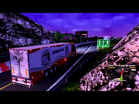Euro Truck Simulator 2 load to Nice with Scania Torpedo V8 part1