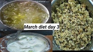 March 15 days weight lose diet, egg diet, low carb diet, day 3