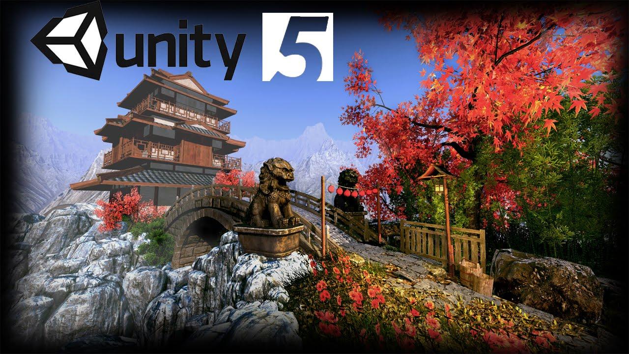 Speed level design asian bridge unity 5 youtube for Japanese style bridge