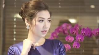 Á Hậu Tú Anh khoe nhan sắc ngọt ngào trong chiếc đầm của Lê Thanh Hòa