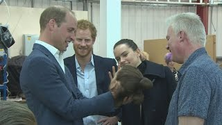 Daisy Ridley guides William and Harry around Star Wars set
