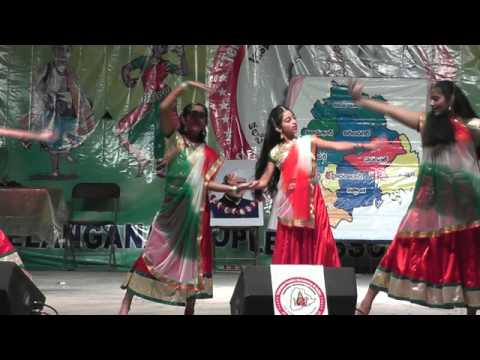 Shanti Nuthi students perform to Pardes song I Love My India...