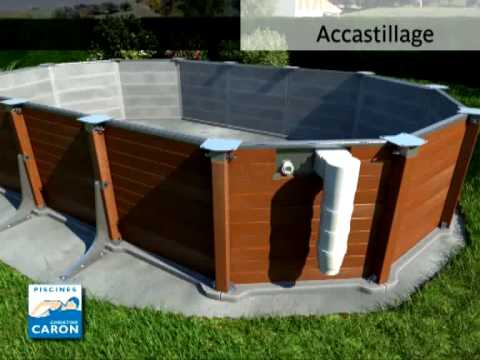 Piscine caron piscine hors sol youtube for Piscine hors sol resine imitation bois