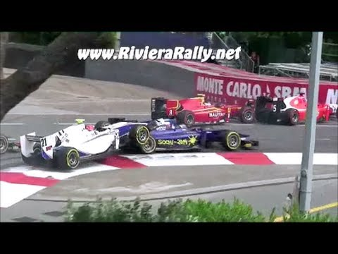 Crash start Grand prix monaco gp2 2013 pure sound