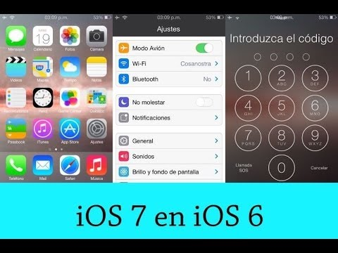 Como Tener iOS 7 en iOS 6   Ipod touch 4   iphone 3gs