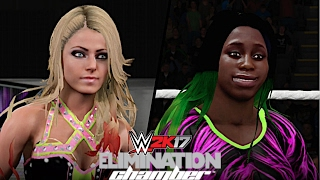 WWE Elimination Chamber 2017: Alexa Bliss vs Naomi (SD Women's Championship)