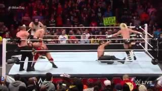 John Cena Ryback  Dolph Ziggler vs Seth Rollins Kane  Luke Harper Raw December 1 2014