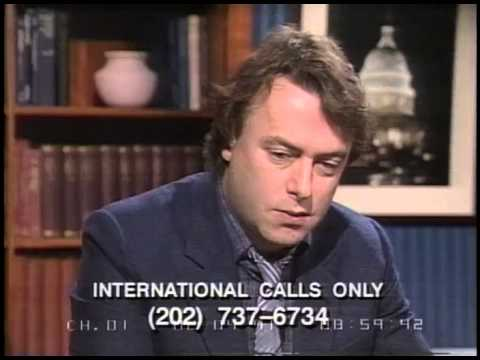 Christopher Hitchens   1991   Discussing the Persian Gulf War with Morton Kondracke