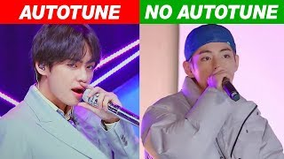 KPOP IDOLS AUTOTUNE VS NO AUTOTUNE (MV vs LIVE!)