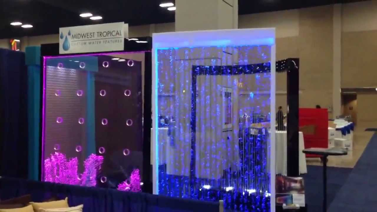 Amazing Rain Curtain And Bubble Wall Display Youtube
