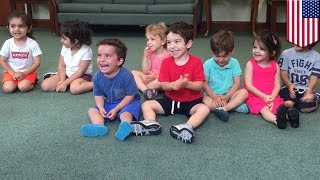 Contagious laugh viral video: hysterical boy can't stop laughing during music class- TomoNews