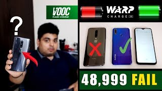 Realme 3 pro Vs OnePlus 7 Pro Charging Test⚡Warp Vs Vooc | 48,999 Vs 13,999 | Shocking Result😲