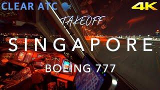 SINGAPORE   BOEING 777 TAKEOFF 4K