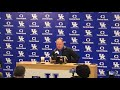 Mark Stoops: 'Something changed a bit Saturday' for Kentucky