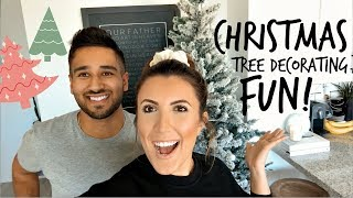 CHRISTMAS TREE DECORATING | VLOGMAS #2