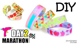 DIY Bracelets Out Of Hot Glue And Washi Tape - DAY 2 of 7-Day Marathon Of Glue Gun DIYs