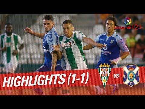 Resumen de Córdoba CF vs CD Tenerife (1-1)