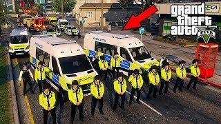 GTA 5 MODS UK POLICE | TSG RIOT MOD | LSPDFR: THE BRITISH WAY #169