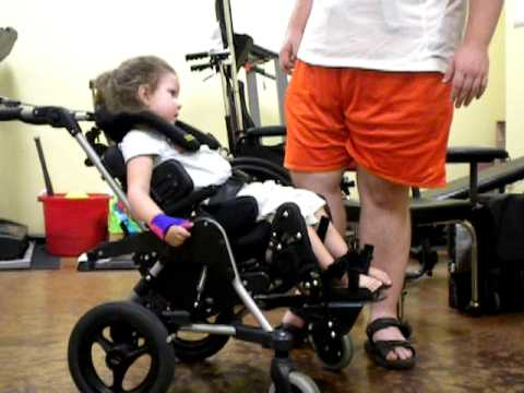 Kenzie in a kids rock wheelchair youtube