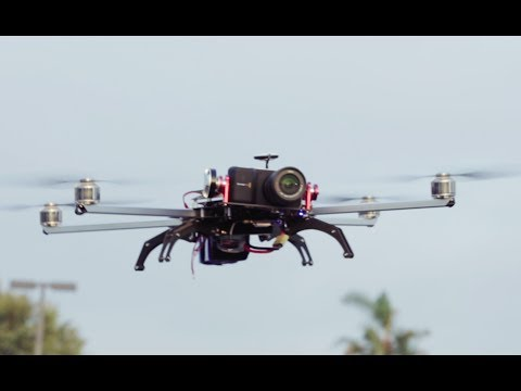 Turbo Ace Matrix Feature Highlights - 48mins with GoPro Camera. 6lbs Payload. Foldable Design
