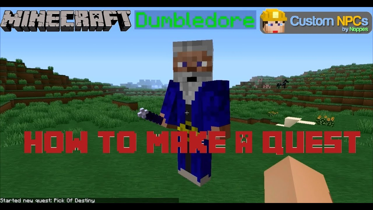 Minecraft Mod: Custom Npc 1.6.2 How to Make a Quest Part 1 - YouTube