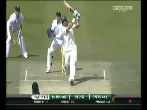 Misbah-ul-Haq monstrous hits against Monty Panesar
