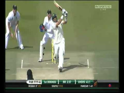 Misbah-ul-Haq monstrous hits against Monty Panesar