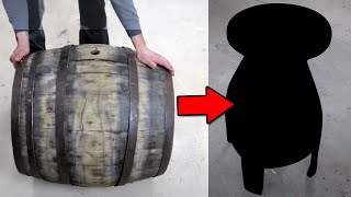 Bar Stool from old wine barrel