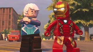 Flying or Superspeed? Quicksilver Vs. Iron Man Race Around Manhattan (LEGO Marvel