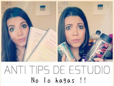 ANTITIPS DE ESTUDIO • || No lo hagas!