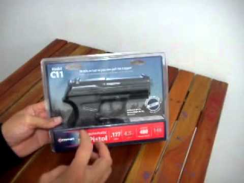Pronta entrega Brasil pistola Crosman C11 20 tiros semi-automatico co2 480 FPS